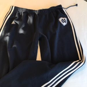 Adidas men's sweatpants size xl navy and white nd